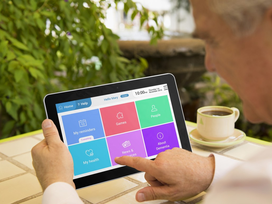 Designing a model app for older persons with cognitive impairment: insights from a usability perspective